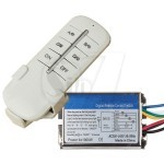 QH-807 Wireless 4 Channels Remote Control Metal Box Switch with Remote Control