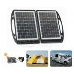 Topray 35W Solar Panel  Folding Suitcase DC Power Kit and Battery Charger