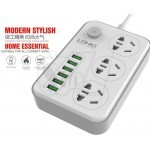LDNIO SC3603 with 3 Universal Sockets Power Strip and 6 Auto ID USB Ports