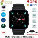 N8 Smart Watch Phone Android 5.1 with 8GB ROM, GPS, WiFi, Camera, Wireless Charger