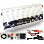 TBE 2in1 Converter DC 12V to AC 220V 1000 Watt Power Inverter and 10Amps 12V Battery Charger