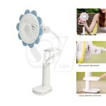 Sunflower Shaped Folding Clip Rechargeable USB Fan