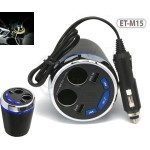 Earldom ET-M15 Smart Current Demitasse USB and Cigarette Car Charger With USB/Bluetooth Player and FM Transmitter