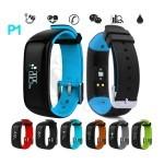 دستبند هوشمند بلوتوثی پی1 ضد آب با قابلیت نمایش فشارخون و ضربان قلب، قدم شمار و ساعت زنگدار