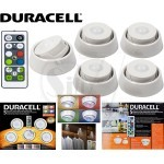 DURACELL 5 Count Color Change LED Puck Lights with Directional Base With Remote Control