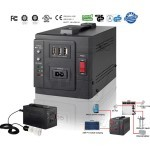 Solapalm Lighting Solution 70W DC solar power Inverter with 3 X USB Port and 3 X Electric Plug