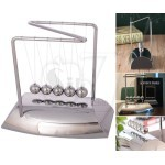 N Shaped Newton's Cradle Balance Pendulum Ball with Steel Plating Base