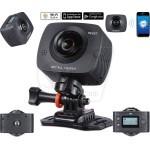 دوربین فیلمبرداری ورزشی 2 طرفه، دارای 2 لنز، وای فای، با قابلیت اتصال به اپلیکیشن موبایل