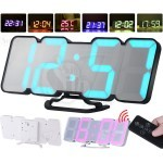 Modern 3D Segment Colorful Digital LED Clock With Remote Control