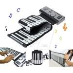 پیانو و ارگ انعطافی و جمع شونده بزرگ 61 کلید پرتابل دارای اسپیکر و حافظه
