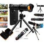 18X-36X Zoom Optical Lens and Mobile Phone Telescope for any Model Cellphones with Mini Tripod