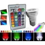 Magic Lighting Remote Control RGB LED lights 16 Colors Change Lamp