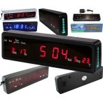 Caixing CX-808 Wall Desk LED Digital Clock with Alarm, Date, Week and Temperature