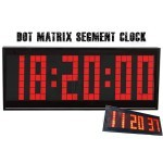 Dot Matrix Segment LED Digital Alarm Clock