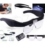 11537DC LED Rechargeable Spectacle Magnifier Magnifying Glasses with 2 LED Lamp