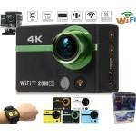 دوربین اسپورت ورزشی 20 مگاپیکسلی با کیفیت 4K، تا 240 فریم در ثانیه، قاب ضدآب تا عمق50 متر، ریموت کنترل، وای فای