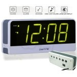 DIGITIME Large Digital LED Alarm Clock