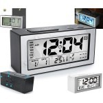 Digital Alarm Clock With Large LCD Temperature Date, Double Alarm And Intelligent Lighting