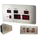 TL2011A Digital Alarm Wall Clock with Stainless Steel Coating
