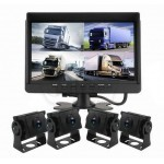 4 Channel DVR Backup Camera Kit with 7 inch Monitor and 4 Camera