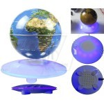 New UFO Shape Around Base Floating Anti gravity Magnetic Levitation Globe with LED