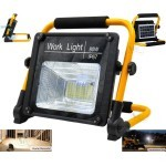 W744 Work Light IP67 COB Flood Lights with Solar Panel