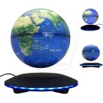 New Disc Shape LED Around Base Magnetic Levitation Floating Antigravity Globe