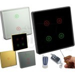 Intelligence Touch Wall Switch with RF Remote Control Capability New