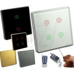 Intelligence Touch Wall Switch with Smart Two Way RF Remote Control Capability