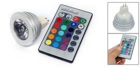 Magic Lighting Remote Control RGB LED lights 16 Colors Change Lamp