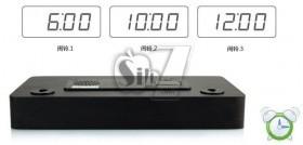 ساعت چوبی مدل 6016 دارای ریموت کنترل، دماسنج و 3 آلارم