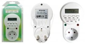 تایمر برق دیجیتالی هفتگی چراغدار مدل 63 با قابلیت تنظیم ثانیه