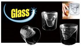 گیلاس شربت خوری جالب به شکل جمجمه شیشه ای