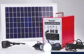 Sunpulse Portable Solar Lighting System with USB Mobile Charger