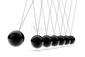 توپ های ضربه ای نیوتن یا آونگ تزئینی پاندولی