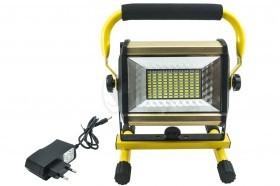 پروژکتور و نور افکن شارژی 100 واتی قوی مدل 808 دارای حالت چشمک زن پلیسی