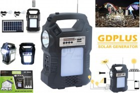GDPLUS GD-8060 Solar Lighting System Rechargeable Portable light with FM radio and MP3 player