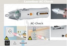 فازمتر بیسیم و تستر ولتاژ غیر تماسی چراغدار لیزرلاینر آلمان مدل 008آ با قابلیت تنظیم حساسیت