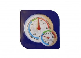 Mini wall Analoge Thermometer and Hygrometer