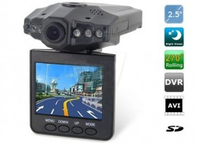 SY-314 Portable Car DVR and Black Box HD 720P Camera with Motion Detection ,2.5 Inch Display ,Night Vision IR LED