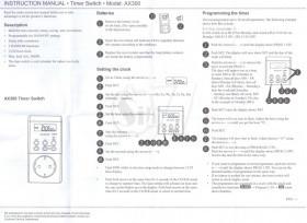 تایمر هفتگی قطع و وصل برق دیجیتالی 40 تایمه تحت لیسانس آلمان مدل آ ایکس 300