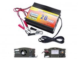 شارژر باطری ماشین 20 آمپری هوشمند 3 مرحله ای 12 ولت مدل 1220