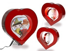 Electro Magnetic Levitating Picture Frame Heart Shaped Floating Photo Frame