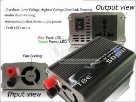 تبدیل برق باطری ماشین به برق شهری تی بی ای در وات های مختلف