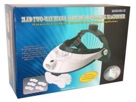 ذره بین هدبندی جدید و پیشرفته چراغدار با 5 لنز یدکی مدل ام جی81001 اچ