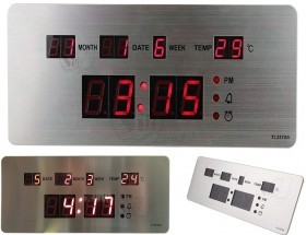 TL-2510A LED Table and Wall Clock with Aluminum Case