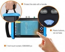 تستر دوربین مداربسته فول ساپورت آی پی سی با صفحه نمایش لمسی 7 اینچی