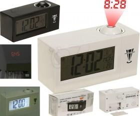 DS-3605 Voice Control Projection Clock, Multi Function Sound Activated Backlight LCD Digital Alarm Clock