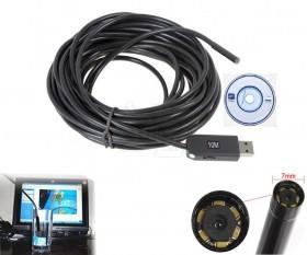 USB Waterproof Endoscope Snake eye Inspection Camera with LED Lighting