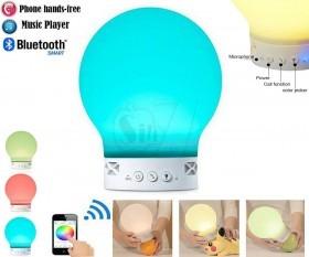 اسپیکر بلوتوثی حبابی ژله ای بزرگ جادویی شارژی با قابلیت تغییر رنگ نور به همرنگ سطح زیر سنسور مدل اس10